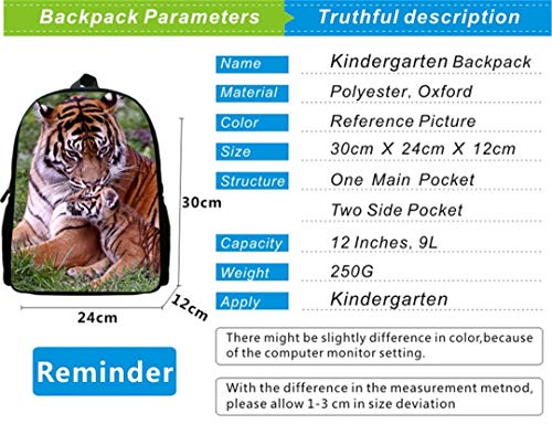 Fashion Men's 3D Animal Bag Backpack Polyester Print 12ib4008 SIRzR8q
