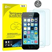 iPhone SE Screen Protector, JETech 2-Pack iPhone SE 5S 5C 5 Premium Tempered Glass Screen Protector