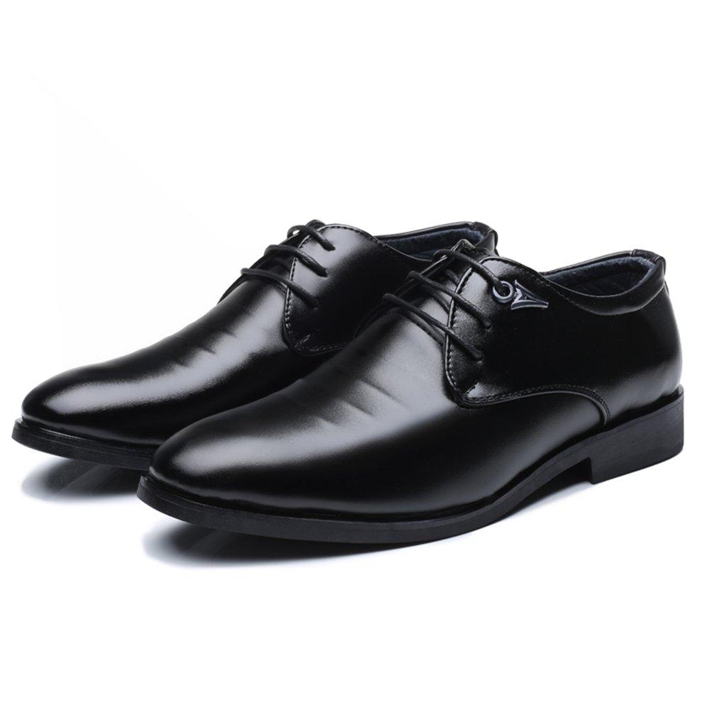 Jiuyue-scarpe, 2018 Scarpe Casual da da da Uomo con Lacci e Stringate Stringate Oxfords Scarpe Uomo Pelle (Colore   Nero, Dimensione   42 EU) fd0157