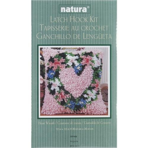 Caron Natura  Latch-Hook Kit, Heart Wreath, 12