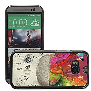 Super Stellar Slim PC Hard Case Cover Skin Armor Shell Protection // M00051447 left aero light brain creative // HTC ONE M8