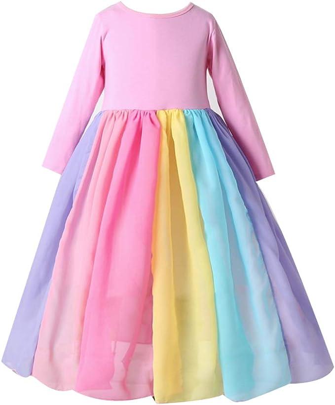 Vestido de Princesa para niñas, Vestido de Manga Larga para niñas ...
