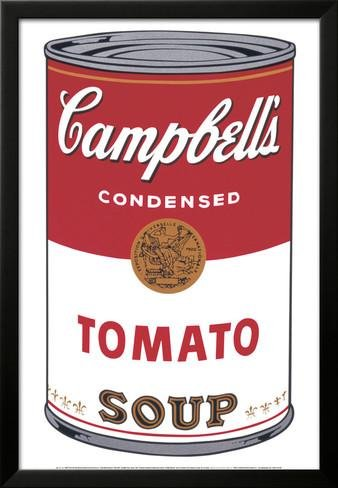 Artedge Campbells Soup I  Tomato  C 1968 Framed Art Print By Andy Warhol  26X42