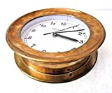 LARGE - SHIP'S BRASS Clock – Marine WALL Clock – Boat / Maritime / Nautical (5007C)