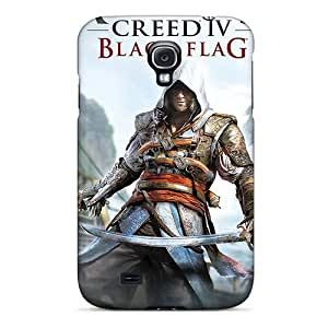 Tpu Fashionable Design Assassins Creed Black Flag Rugged Case Cover For Galaxy S4 New