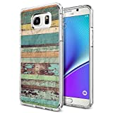 Note 5 Case Nostalgic wood design, LAACO Scratch Resistant TPU Gel Rubber Soft Skin Silicone Protective Case Cover for Samsung Galaxy Note 5