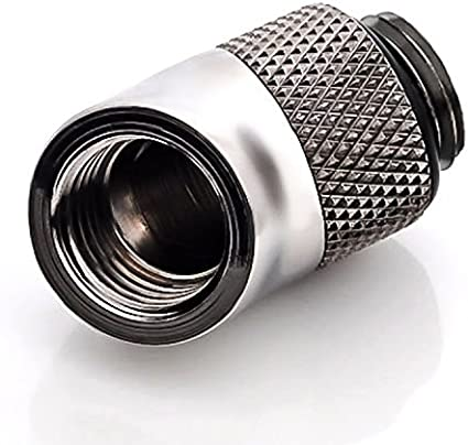 Bitspower G1//4 Male to Female Extender Fitting 4-Pack Silver Shining 45/° Rotary