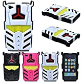 iphone 4 case robot - Apple iPhone 4S 4 4G 4GS 3D Transformer Design Robot Megatron Car Rugged Durable Hard Hybrid Full Body Case Cover Cell Phone Protective Accessories (White-Black)