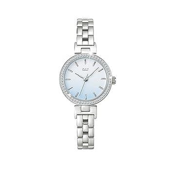 O.T.S OST (Corea del Sur Marca Mujer niña Relojes Azul Plata metálico) Corea Marca Mujer Chicas Reloj Cuarzo Azul de Metal Plata: Amazon.es: Deportes y aire ...