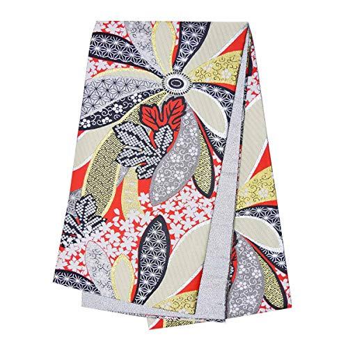 和道楽着物屋 振袖用 仕立て上がり袋帯 単品 モダン 女性 レディース ポリエステル 花柄 金 赤 黒 番号d102-10 着物 和装 レディース