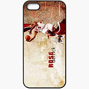 Personalized iPhone 5 5S Cell phone Case/Cover Skin 14787 derrick rose by zile12 d38xaz8 Black
