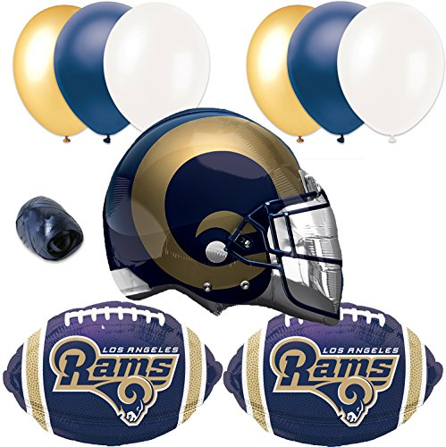 Los Angeles Rams Football Helmet Balloon Super Bowl Party 10pc Pack]()