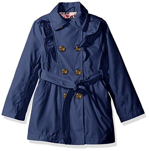 Urban Republic Girls Little Fave Trench Coat, Marine Blue, 6X