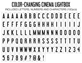 My Cinema Lightbox - Color-Changing Marquee Signs