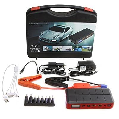 LB1 High Performance New Portable Jump Starter for 2014 Vulcan900 Classic 12V 400A Peak Current Power Bank 12000mAh External Battery Pack 2 USB Output 5V/2.1A AC Output 5V/1A