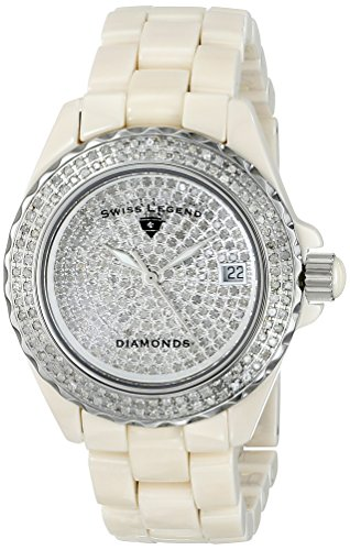 Swiss Legend Women's 20052-BGWFS Karamica Diamonds Collection Stainless Steel Watch with Link Bracelet