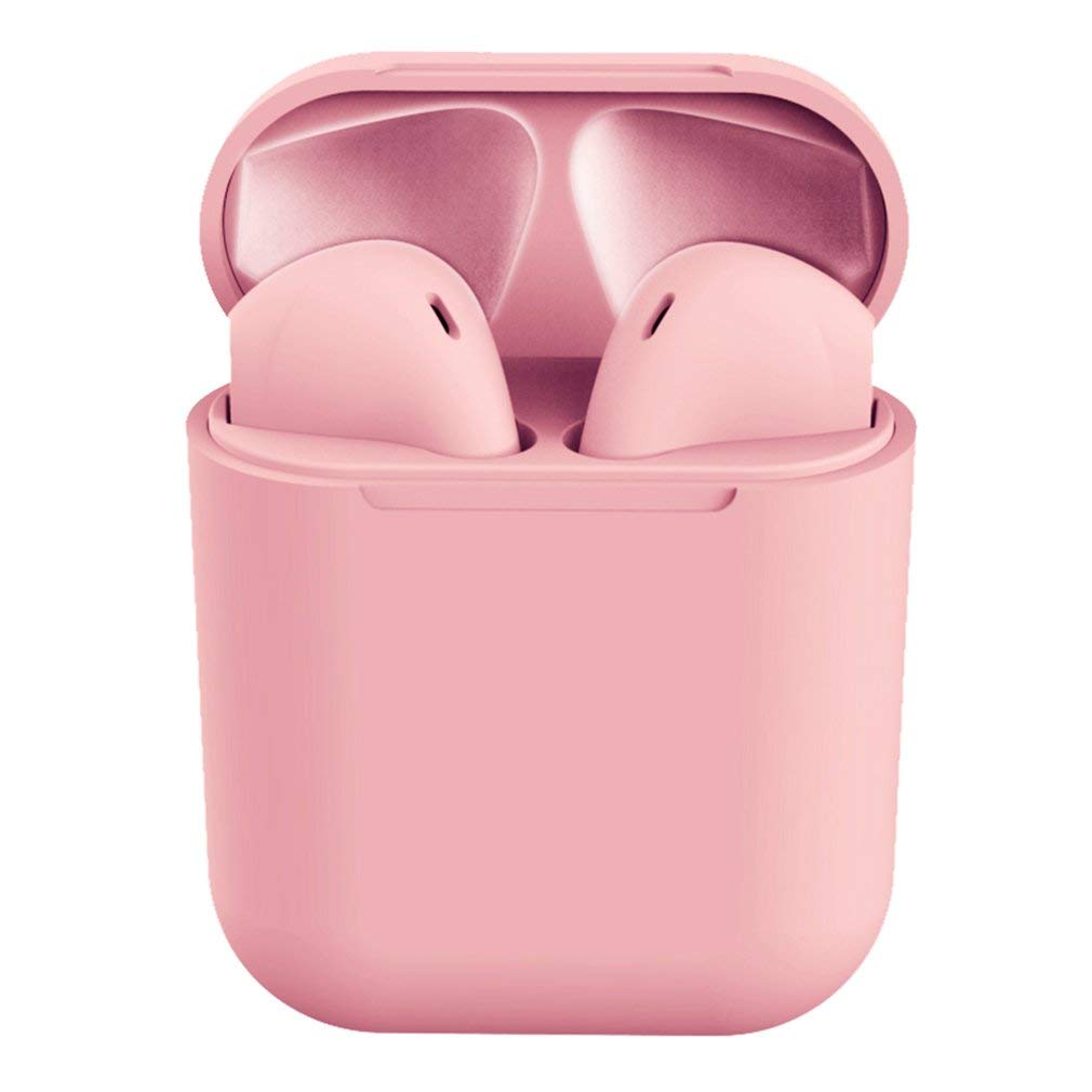 SEN Macaron Cuffie Wireless Colorate Cuffie Sportive HiFi glassate Delicate Rosa Ciliegia
