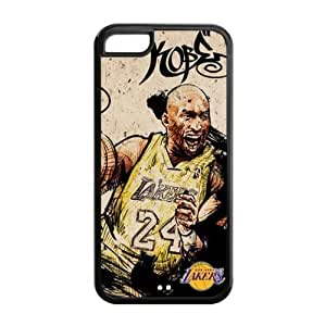 iPhone 5C TPU Case with LA Lakers Kobe Bryant Graphic Image-by Allthingsbasketball