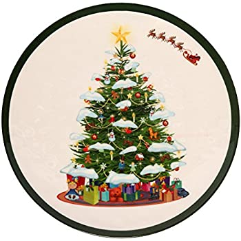 Melange 6-Piece 100% Melamine Dinner Plate Set (Christmas Tree Collection ) | Shatter-Proof and Chip-Resistant Melamine Dinner Plates  sc 1 st  Amazon.com & Amazon.com | Lenox Holiday Melamine Dinner Plates (Set of 4) Ivory ...