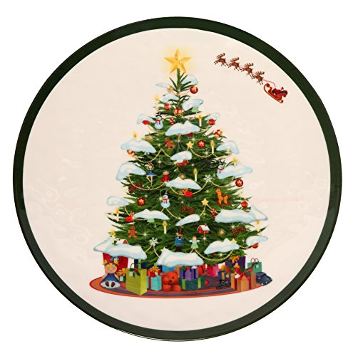 Melange 6-Piece 100% Melamine Dinner Plate Set (Christmas Tree Collection ) | Shatter-Proof and Chip-Resistant Melamine Dinner Plates for $<!---->
