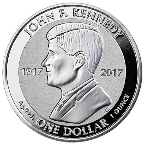- 2017 VG VG John F Kennedy 1 oz Silver Reverse Proof $1 Coin $1 Gem Uncirculated 1 Dollar GEM Reverse Proof Uncertified