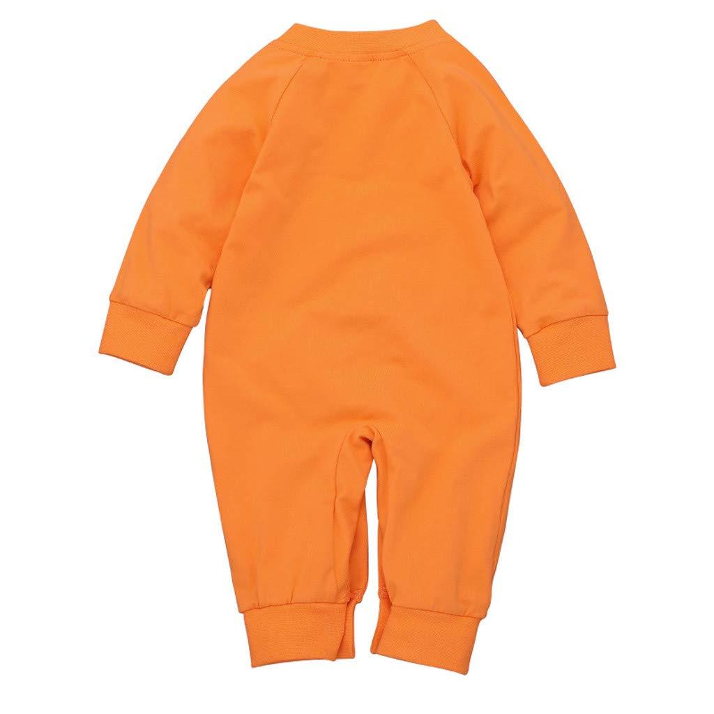 Walabe Enfants D/éGuisement Halloween Nouveau-N/é B/éB/é Gar/çOn Fille Halloween Citrouille Cosplay Costume Barboteuse Jumpsuit Tenues 0-24 Mois