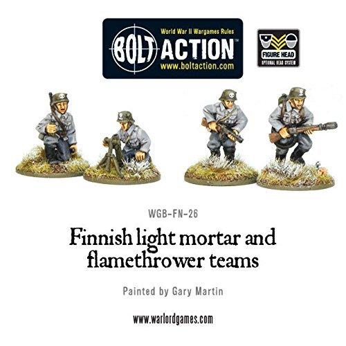 Finnish Light Mortar & Flame Thrower Miniatures by Bolt Action