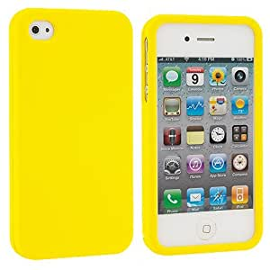 Accessory Planet(TM) Yellow Hard Snap-On Matte Rubberized Case Cover Accessory for Apple iPhone 4 / 4S