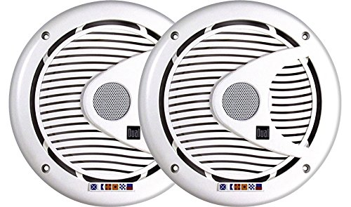 - Dual Electronics DMS652 Two 6.5 inch 3-Way High Performance Marine Speakers with Silk Dome Tweeters and 175 Watts of Peak Power