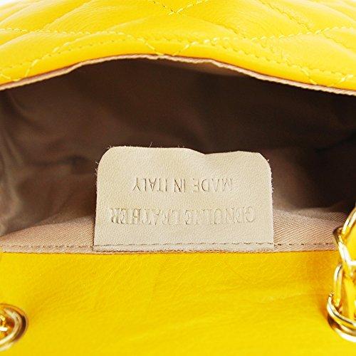 para Piel mujer amarillo de N amarillo cruzados amp;N Bolso Izq1xwSPX