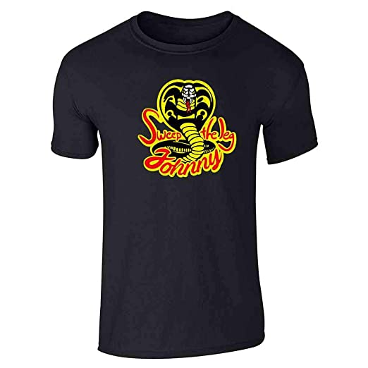 1e737036e Sweep The Leg Johnny Cobra Kai Karate Kid 80s Black S Short Sleeve T-Shirt