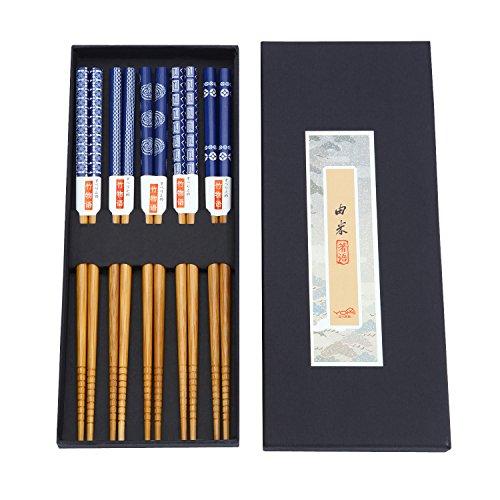 ZxU Natural Bamboo Japanese Chopsticks