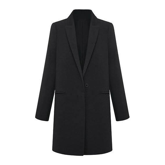 SODIAL(R) Mode Femmes Long hiver Manteau en laine Cachemire Trench Blazer  Costume Survetement b25d1c34ddef