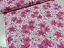 キャシー中島 生地 (キャシーマム) メリア ピンク 生地 布地 パジャマ シャツ ワンピース スカート ハワイアン インテリア の商品画像