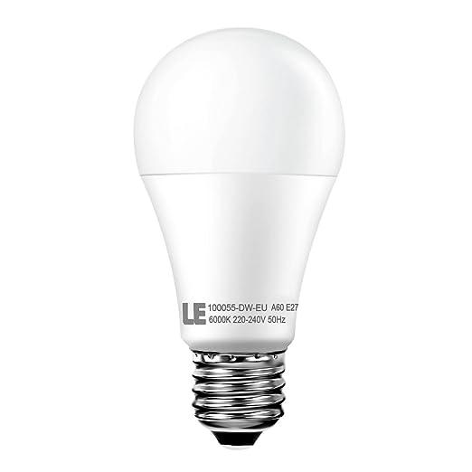 LE Bombilla LED 12W=75W Incandescente 1050 lúmenes Blanco frío E27 A60