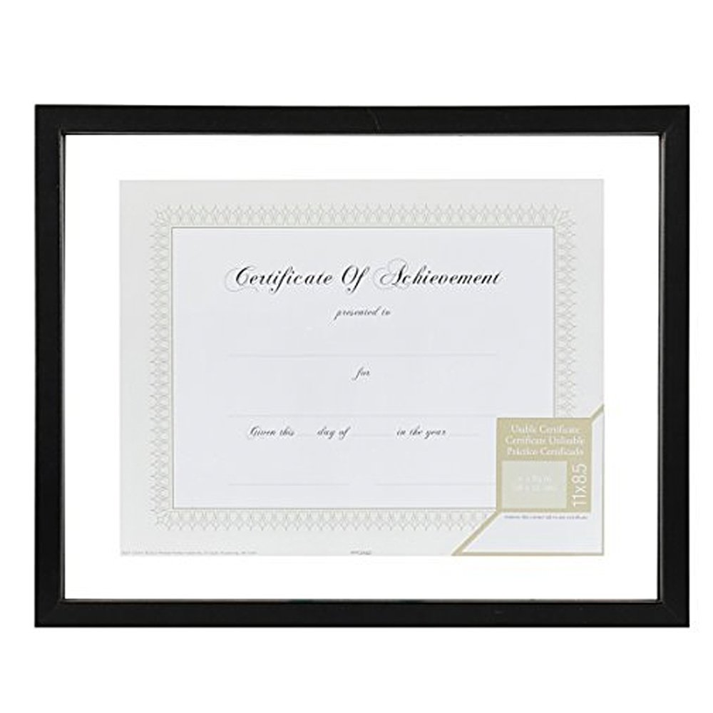 Gallery Solutions 11x14 Document Frame for Floating Display of 8.5x11 Document or Image, Black NBG Home 14FW1277