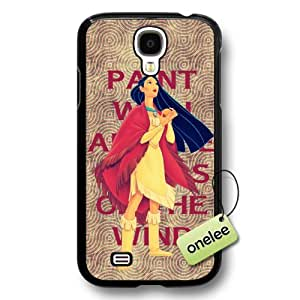 Disney Cartoon Movie Pocahontas Hard Plastic Phone Case & Cover for Samsung Galaxy S4 - Black