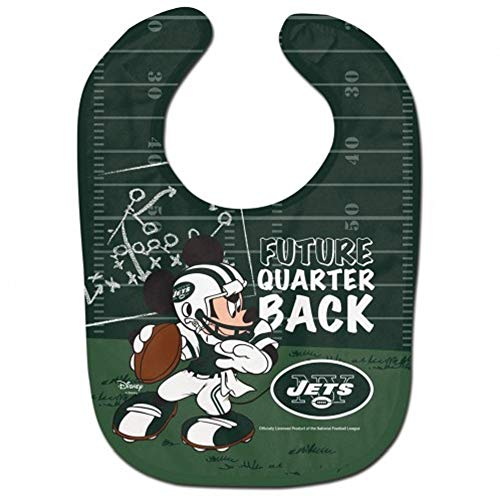 WinCraft NFL New York Jets All Pro Style Baby Bib, One Size, Team Color
