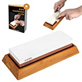 Whetstone Sharpening Stone,Knife Sharpener Kit,MayPal 1000/4000 Grit Chef Knife Sharpener Non-Slip Silicone Base Holder And Bamboo Base Included
