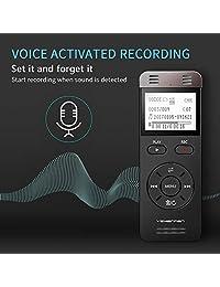 Grabadora de voz Yemenren Digital voz activado dispositivo de grabación de audio 8 GB MP3 grabadora de voz reproductor para conferencias reuniones