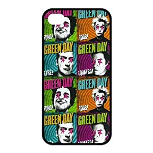 Green Day Rock Band Pattern Design Solid Rubber Customized Cover Case for iPhone 4 4s 4s-linda737
