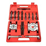 """14pcs Bearing Separator Puller Set with 2"""" and 3"""" Splitters Remove Bearings Jaws Tool Kit Black Heavy Duty"""