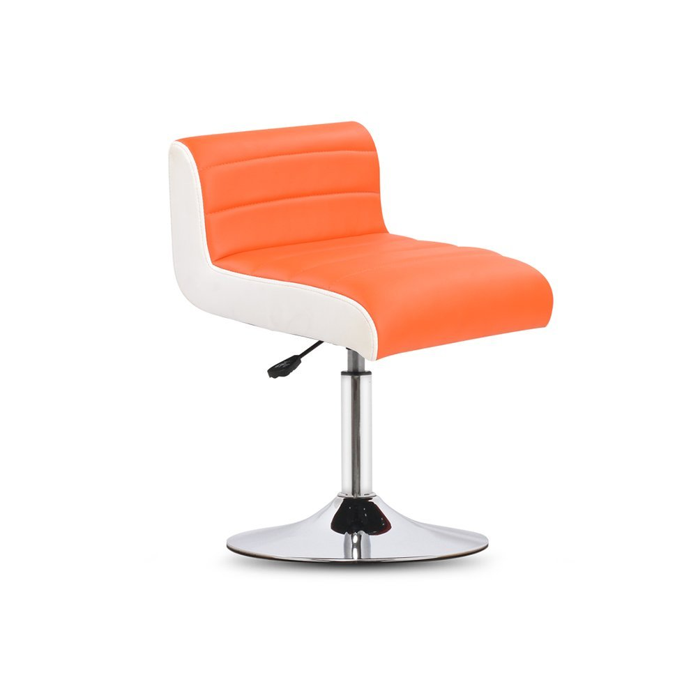 DALL カウンターチェア FL-07バースツール 朝食バー スツール 高い足 スツール 組み立てることができます 回転可能な L ドロップ 高さ45-57cm (色 : オレンジ) B07DJ1PQNW オレンジ オレンジ
