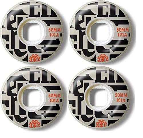 (Element Skateboard Wheels 50MM 101A NEO-BOP Set of 4)