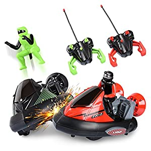 abco tech rc bumper race car – set of 2 rc battle cars toy set with drivers – built-in crash sounds & driver ejection – fun & interactive remote control car toy – 2 different frequency rc remotes - 51krU6VzhaL - Abco Tech RC Bumper Race Car – Set of 2 RC Battle Cars Toy Set with Drivers – Built-in Crash Sounds and Driver Ejection – Fun and Interactive Remote Control Car Toy – 2 Different Frequency RC Remotes