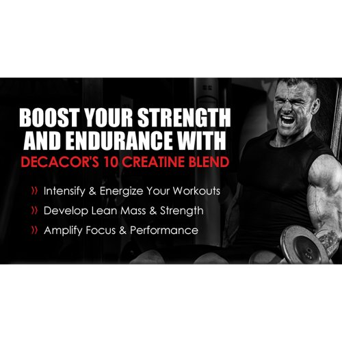 Decacor Creatine 2 Pack - Best Creatine Supplements - Increase Muscle Power for Better Muscle Growth and Recovery