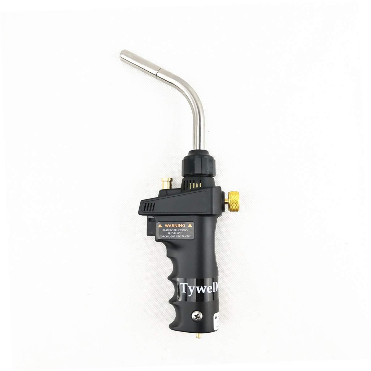 Mapp Gas Welding Torch, Ignition Flame Brazing Gun for Welding Jewelry BBQ HVAC Plumbing