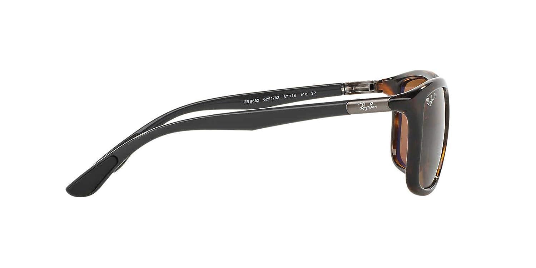 35e76eb6a9f Amazon.com  Ray-Ban Mens Sunglasses (RB8352) Black Grey Plastic ...