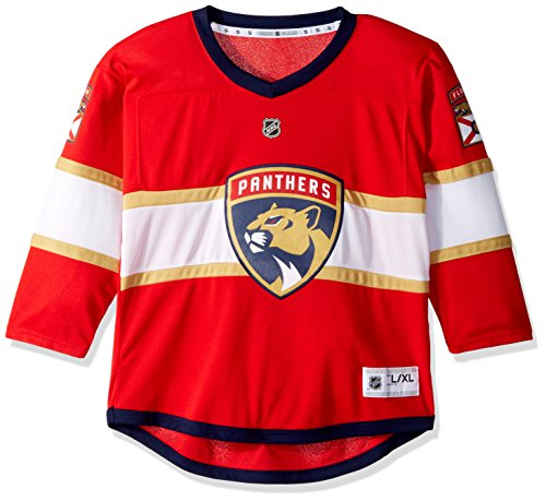 NHL Florida Panthers Youth Boys Replica Home-Team Jersey, Small/Medium, Red