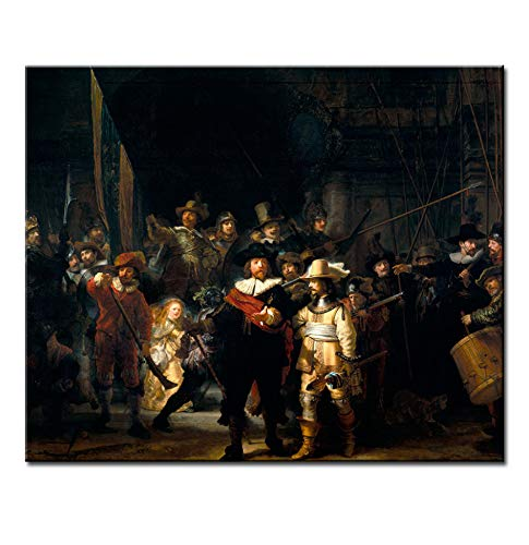 CYKEJISD Famous The Night Watch Wall Picture for Room Oil Painting Wall Art Painting
